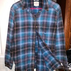 American Eagle Destroyed Oversized Flannel-Size M